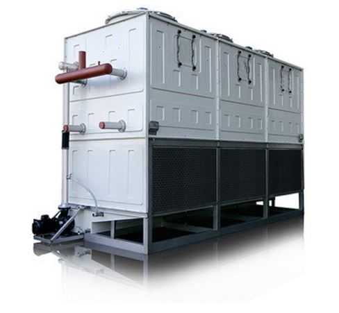 Evaporative condensed chillers