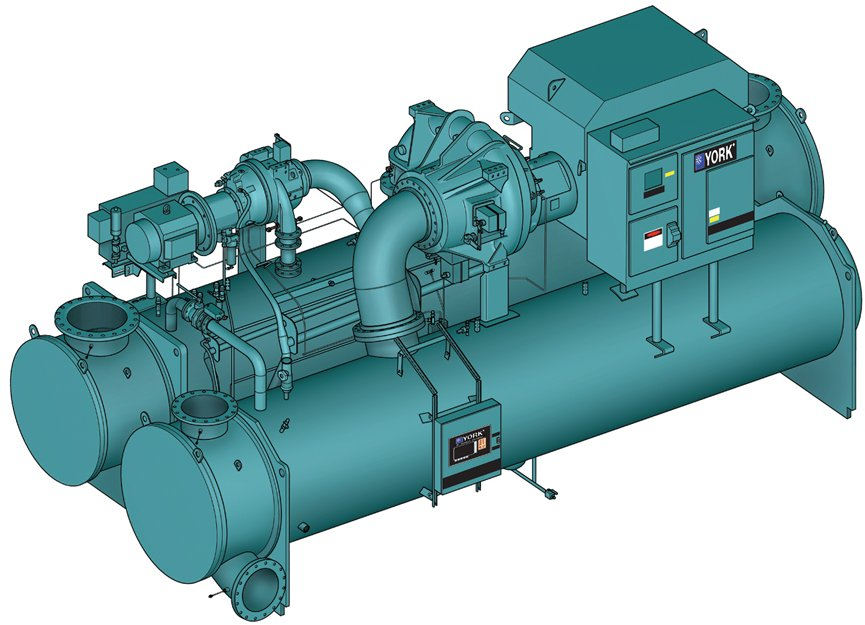 Water-cooled centrifugal chiller
